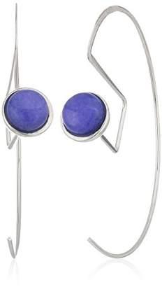 Danielle Nicole Muche Silver / Purple Hoop Earrings