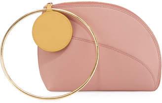 Roksanda Eartha Small Leather Ring-Handle Clutch Bag