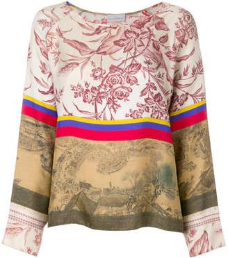 Pierre Louis Mascia Pierre-Louis Mascia printed longsleeved blouse