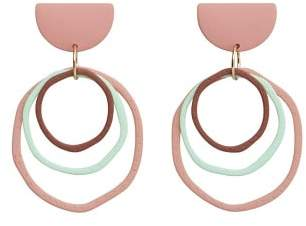 MANGO Circular pendant earrings