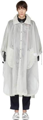 Lanvin White Transparent Hooded Coat