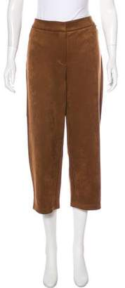 Andrew Marc Micro Suede High-Rise Pants w/ Tags