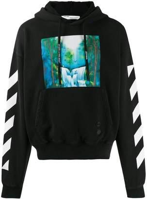 Off-White Off White waterfall print hoodie black