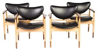 Baker Leather LJ-48 Accent Chairs