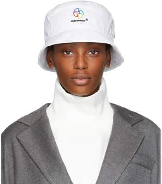 ADER error White Slice Logo Bucket Hat