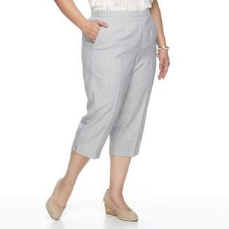 Alfred Dunner Plus Size Studio Pull-On Capri Pants