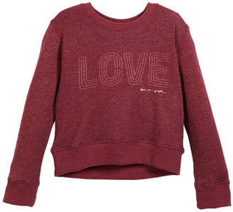 Spiritual Gangster Love Crew-Neck Sweatshirt, Size 6-14