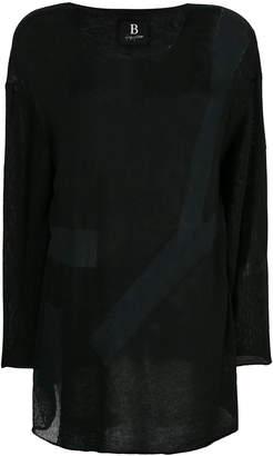 Yohji Yamamoto sheer knitted top