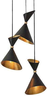 Global Views Dwell Cone Pendant - Bronze