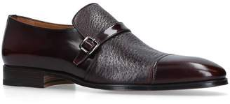 Stemar Contrast Leather Monk Shoes