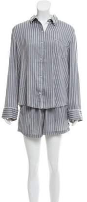 DKNY Striped Pajama Set