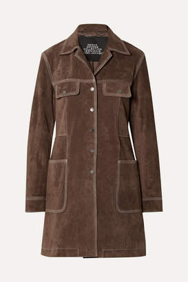 Marc Jacobs Suede Coat - Brown