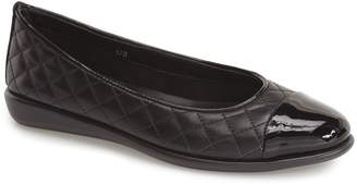 The Flexx 'Rise a Smile' Quilted Leather Flat