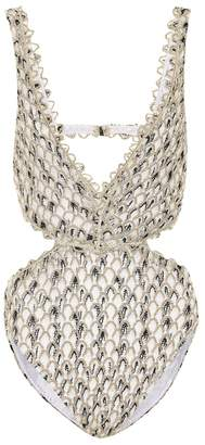 Missoni Mare Cut-out crochet swimsuit