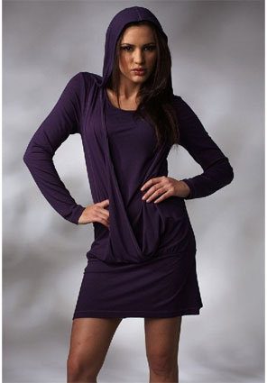 LinQ Long Sleeved Hoodie Dress -