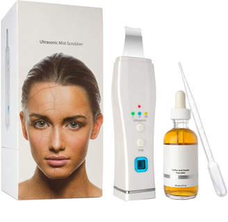 Coffee Evolution Skin Scrubber Device For Clogged Pores With Patented Skin Rejuvenation Mist