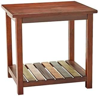 Signature Design by Ashley Ashley Furniture Signature Design - Mestler Chairside End Table - Rectangular - Dark Brown