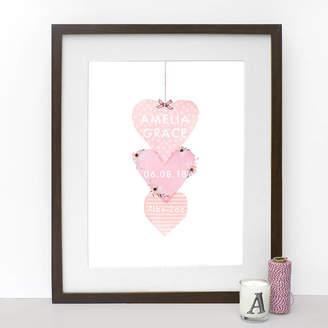 Stephanie Davies Heart Baby Girl Print