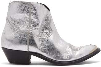 Golden Goose Young distressed-leather cowboy ankle boots