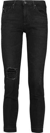 Stilt Distressed Mid-Rise Skinny Jeans