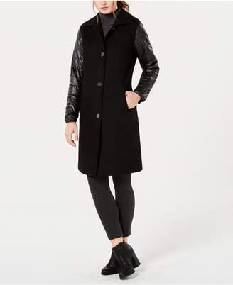 Jones New York Puffer-Sleeve Walker Coat