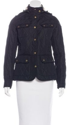 Barbour Quilted Button-Up Jacket $175 thestylecure.com