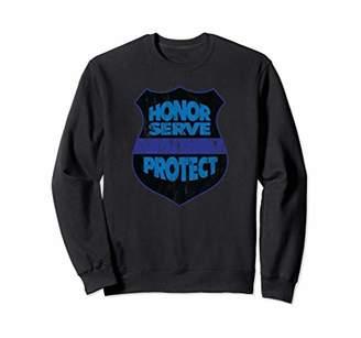 Honor Serve Protect Police Blue Line Sweatshirt