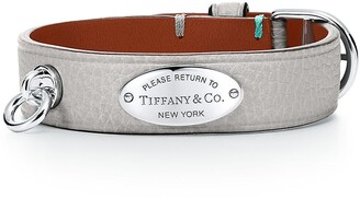 Tiffany & Co. Return to TiffanyTM narrow leather bracelet in cobalt blue with sterling silver - Size Small-medium