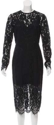 Veronica Beard Midi Long Sleeve Dress