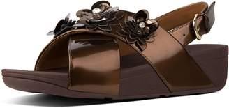 FitFlop Lulu Flower Patent Back-Strap Sandals