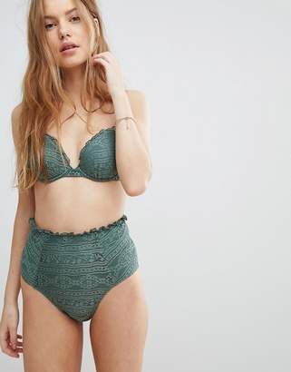 Asos DESIGN Mix and Match Crochet High Waist Bikini Bottom