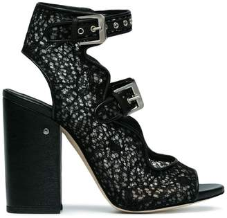 Laurence Dacade Black Nelen 110 lace sandals