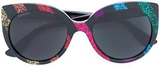 Gucci glitter stripe sunglasses