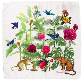 Oscar de la Renta Floral Silk Scarf w/ Tags