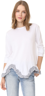 Clu Flared Top with Ruffle Hem $176 thestylecure.com