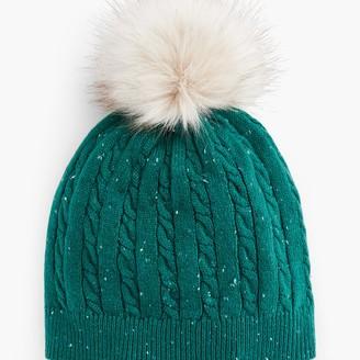 Talbots Cableknit Pom Pom Hat