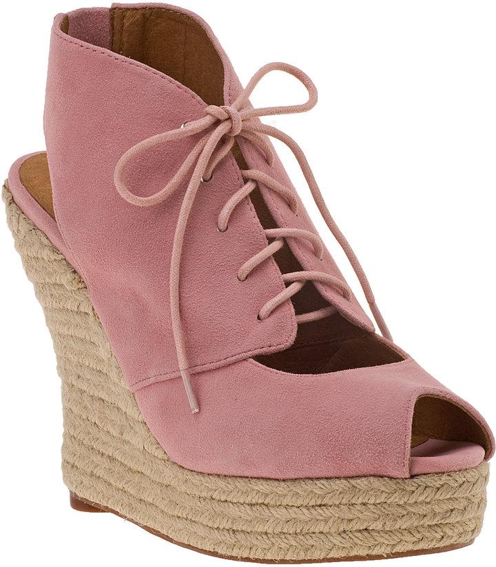 JEFFREY CAMPBELL Aries Platform Sandal Pink Suede