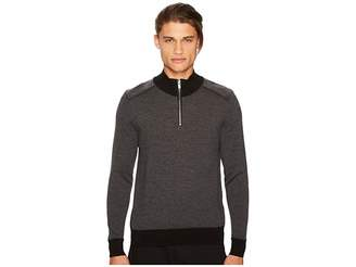 The Kooples Zip-Collar Pullover with Shoulder Yokes Men's Clothing