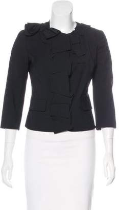 RED Valentino Bow-Accented Cropped Jacket