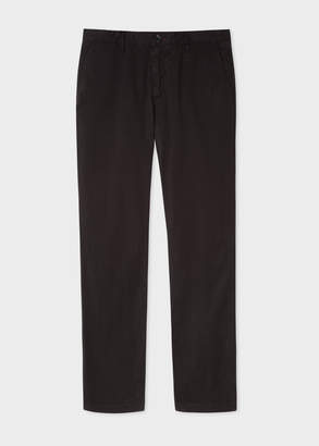 Paul Smith Men's Slim-Fit Black Stretch Pima-Cotton Chinos