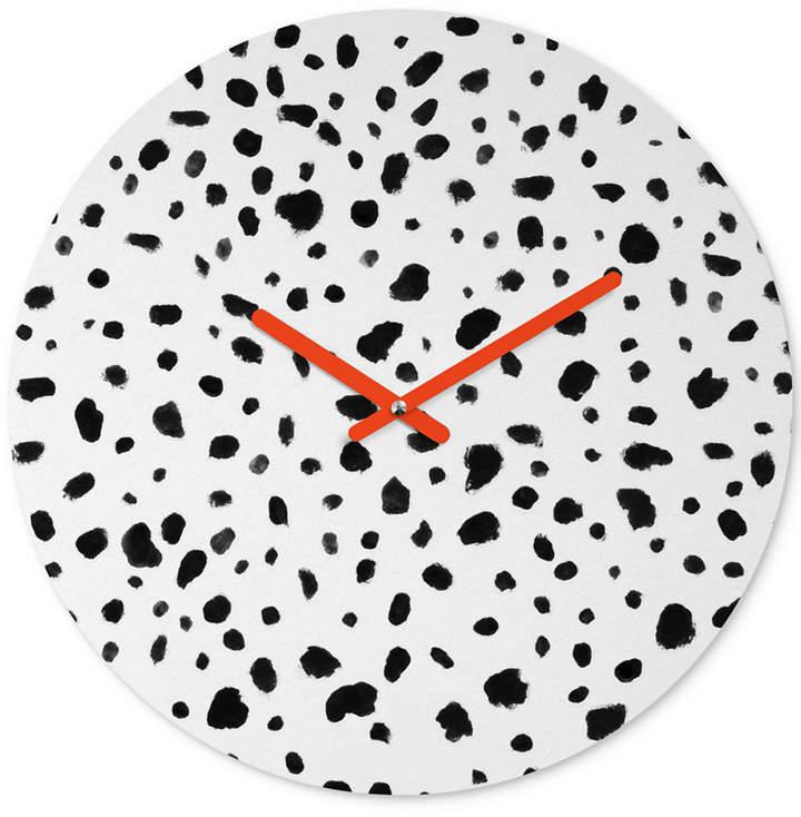 Rebecca Allen Miss Monroes Dalmatian Round Clock