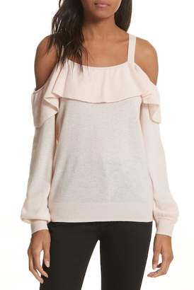 Joie Delbin Shoulder Tie Cashmere Ruffle Sweater