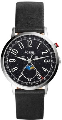 Women's Fossil Stargazer Leather Strap Watch, 40Mm $195 thestylecure.com