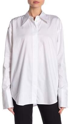 Helmut Lang Button Seam Long Sleeve Shirt