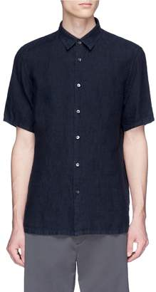 Theory 'Irving' linen short sleeve shirt
