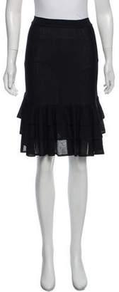 Saint Laurent Tiered Knee-Length Skirt