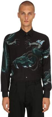 Givenchy Dragon Printed Viscose Shirt