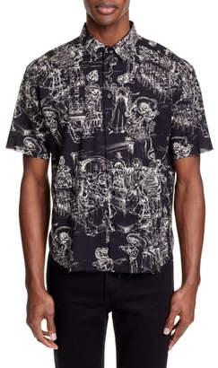 Saint Laurent Volie de Coton Woven Shirt