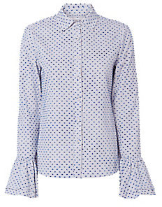 Derek Lam 10 Crosby Clipped Embroidery Shirt $325 thestylecure.com