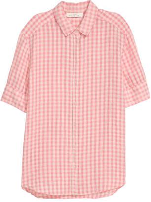 H&M Textured-weave Shirt - Pink